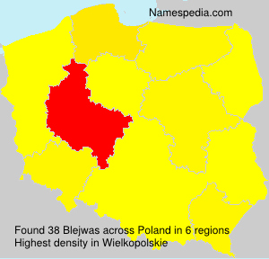 Surname Blejwas in Poland