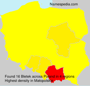 Surname Bletek in Poland