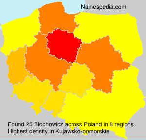 Familiennamen Blochowicz - Poland