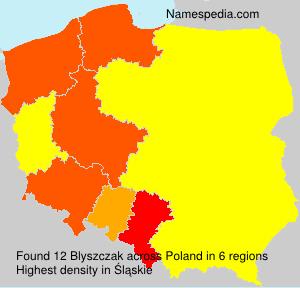 Surname Blyszczak in Poland