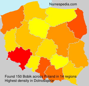 Surname Bobik in Poland