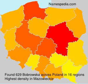Familiennamen Bobrowska - Poland