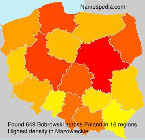 Surname Bobrowski in Poland