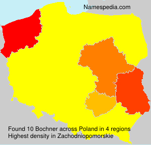 Surname Bochner in Poland