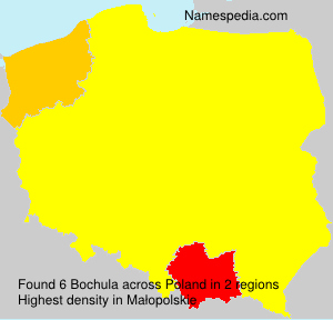 Surname Bochula in Poland