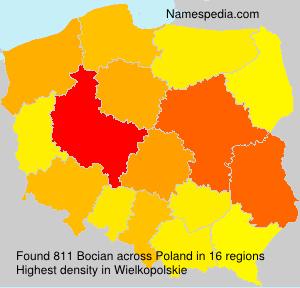 Surname Bocian in Poland