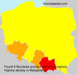 Familiennamen Boczkala - Poland