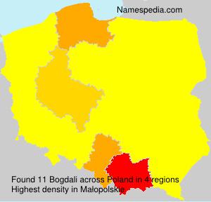 Surname Bogdali in Poland