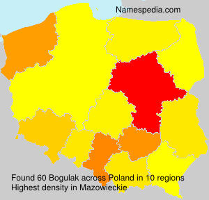 Surname Bogulak in Poland