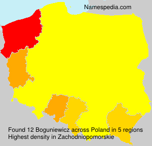 Surname Boguniewicz in Poland