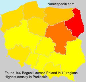 Surname Boguski in Poland