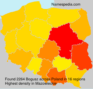 Surname Bogusz in Poland