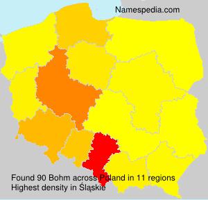Surname Bohm in Poland