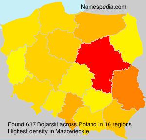 Surname Bojarski in Poland