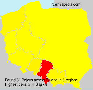 Surname Bojdys in Poland