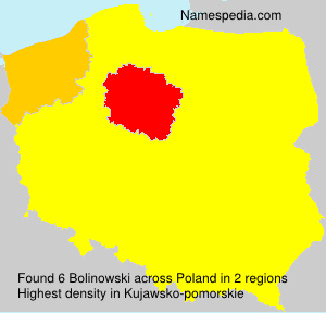 Surname Bolinowski in Poland