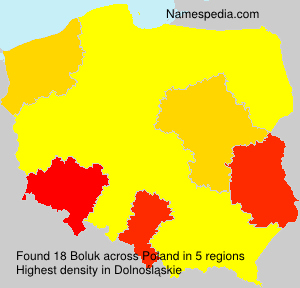 Surname Boluk in Poland