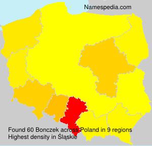 Familiennamen Bonczek - Poland