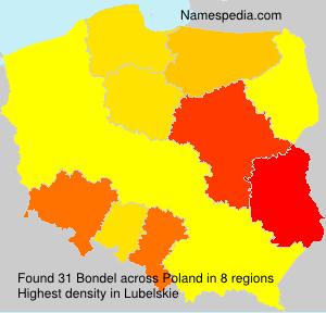 Familiennamen Bondel - Poland