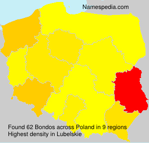 Surname Bondos in Poland