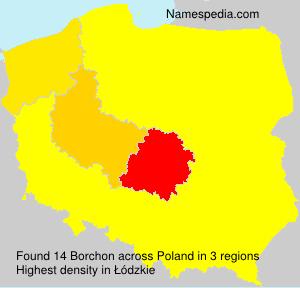 Surname Borchon in Poland