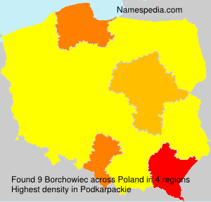 Surname Borchowiec in Poland
