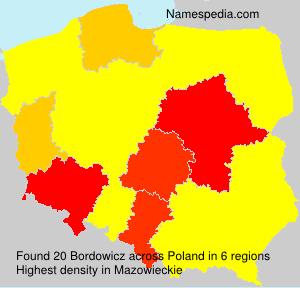 Surname Bordowicz in Poland