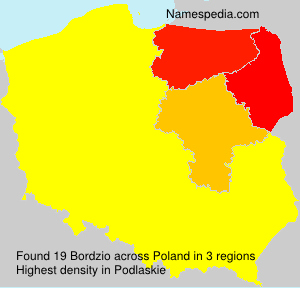 Surname Bordzio in Poland