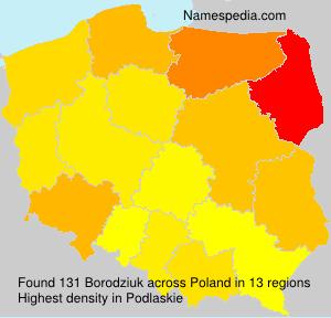 Surname Borodziuk in Poland