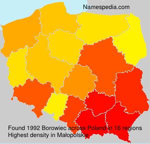 Surname Borowiec in Poland