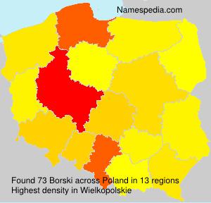 Familiennamen Borski - Poland