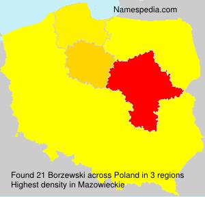 Surname Borzewski in Poland