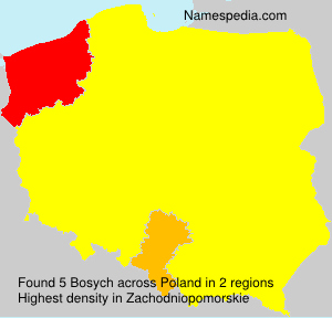 Surname Bosych in Poland