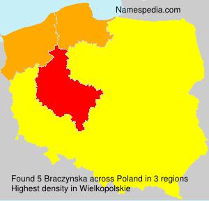 Surname Braczynska in Poland