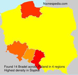 Familiennamen Bradel - Poland