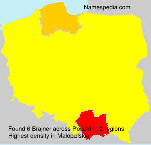 Surname Brajner in Poland