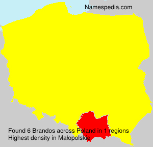 Familiennamen Brandos - Poland