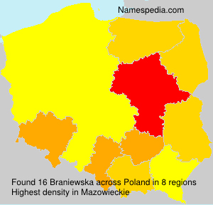 Familiennamen Braniewska - Poland