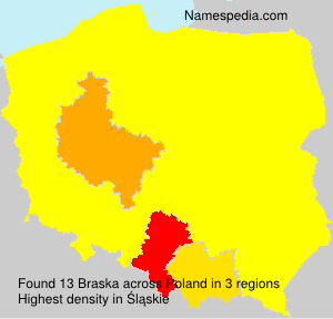 Surname Braska in Poland
