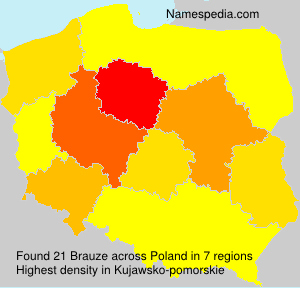 Surname Brauze in Poland
