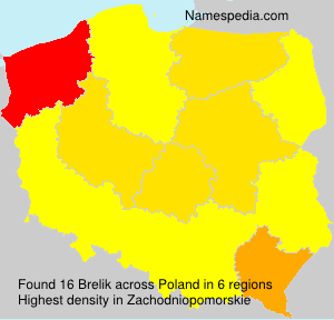 Surname Brelik in Poland