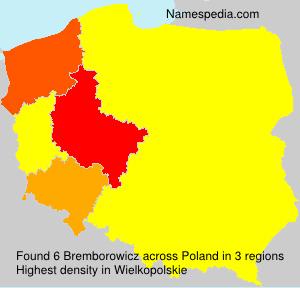 Familiennamen Bremborowicz - Poland