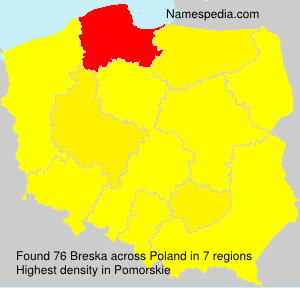 Surname Breska in Poland