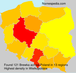 Surname Brewka in Poland