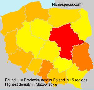 Surname Brodacka in Poland