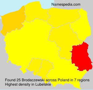 Familiennamen Brodaczewski - Poland