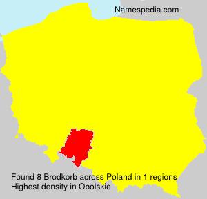 Surname Brodkorb in Poland