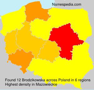 Familiennamen Brodzikowska - Poland