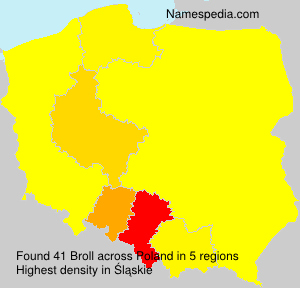 Surname Broll in Poland