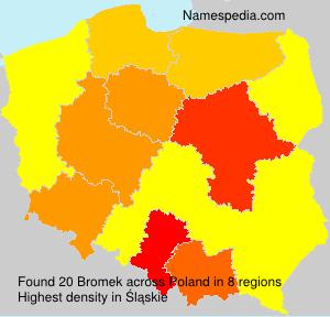 Surname Bromek in Poland